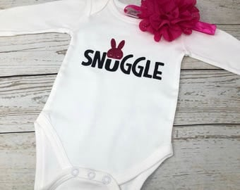 Snuggle bodysuit, Easter baby bodysuit, First Easter bodysuit, baby snuggle, baby shower gift, My first Easter