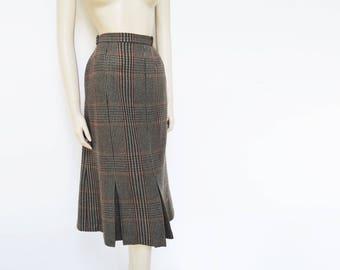 Tweed Skirt, UK14, Vintage Skirt, Wool, Pencil Skirt, Vintage Clothing, Retro Style, Pinup, Secretary, Tweed, 1980s, Women's Vintage Skirt