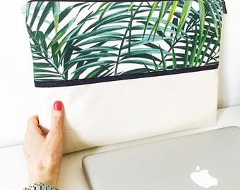 Tropical MacBook 13 inch cover / Pearly leatherette