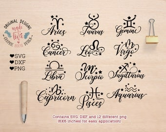 Zodiac sign etsy astrology svg zodiac signs svg zodiac signs cut files in svg dxf stopboris Image collections