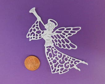 Angel Die cuts / Angel Confetti, Party Confetti, Paper embellishments, Christmas ornaments, cupcake topper, scrapbooking cardmaking supplies