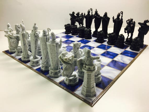 Harry Potter Wizard Chess Set Complete Game With Box And