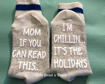 """Kids """"If You Can Read This"""" Socks"""