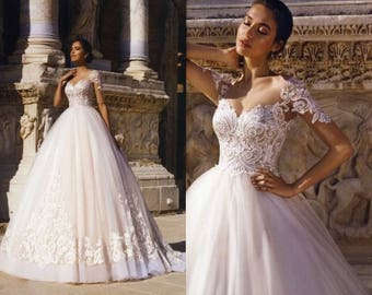 Beautiful Organza Lace Ball Gown