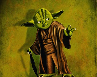 Cute Yoda illustration