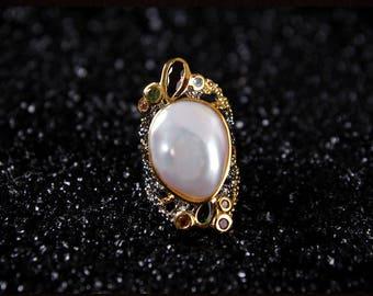925シルバー natural   Baroque pearls