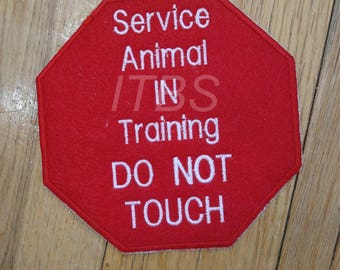 Service animal please do not touch