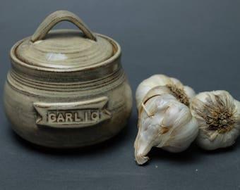 Handmade Ceramic Garlic Keeper