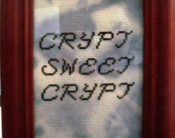 Crypt sweet Crypt cross stitch pattern