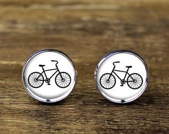 Bicycle cufflinks, Bike cufflinks, Bike jewelry