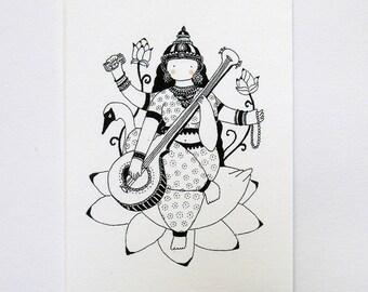 Sarasvati - Hindu gods series