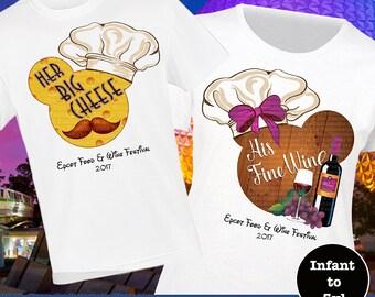 Couple Epcot Food And Wine Shirt, Couples Epcot Food And Wine Tank, Food And Wine Shirt, Big Cheese Shirt, Fine Wine Shirt, Epcot Shirt