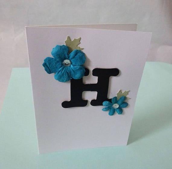 "Monogram/Initial Card - Letter ""H"""
