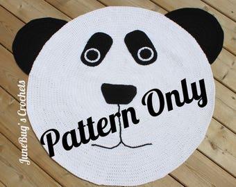 CROCHET PATTERN Panda Bear Rug Crochet Pattern, Crochet Bear Rug, Panda Bear,  Bear