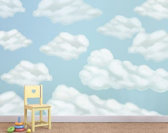 Cloud Wall Stickers, Cloud Decals, Clouds Mural, Cloud Wall Decals, Cloud  Decal Part 78