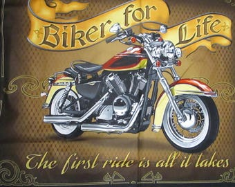 Bikers For Life,Panel 36x45 Quilting Treasures