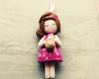 Necklace gourmet girl doll pink dress