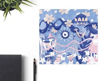 It's A Small World Disney Art Print, Disney Christmas Gift, Retro Disney Parks, Co-Worker Christmas Gift Idea, Disney Lover Gift, Mary Blair