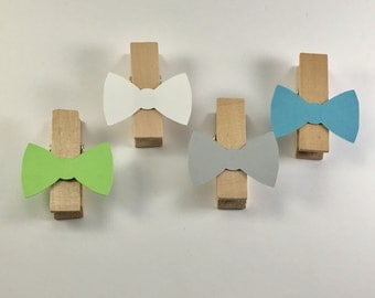 Little Man Bow Tie Clothespins-Baby Shower, Party Decor, Party Favors