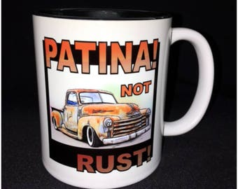 Hot Rod, Custom Car Coffee Mug, Patina GMC, GMC Pickup