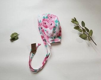 Anne Bonnet•0-12 M•baby bonnet•baby hat•warm hat•winter baby•baby girl•photo prop•accessory•flower•cotton bonnet•toddler hat