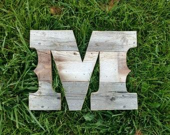"""14"""" Tall Reclaimed CEDAR letter - Old west style -  Monogram - Letter - Wall art - A B C D E F G H I J K L M N O P Q R S T U V W X Y Z"""