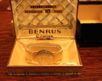 Great 14k gold Benrus watch, superb condition