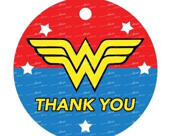 Wonder Woman Thank You Tag
