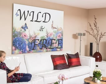 Wild and free poster print wall art instant download digital download