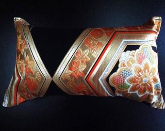 Cushion of Obi (Kimono) Japanese Silk  0000106