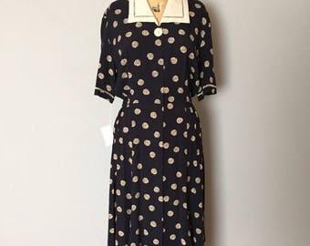 20% OFF SALE... spiral dress   Van Gogh starry night dress   1940s inspired dress