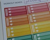 Workout Boxes | Multicolour Rainbow Functional Stickers for Erin Condren (M031)