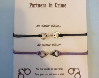Partners in crime wish bracelets