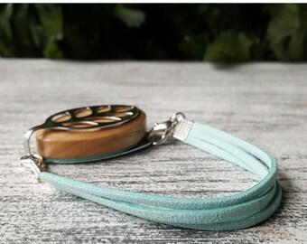 ON SALE Mint Faux Suede Strap Bracelet for Bellabeat LEAF