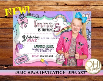JOJO SIWA birthday invitation, jojo siwa party, jojo siwa birthday, jojo siwa invitation, jojo siwa birthday, jojo siwa, jojo siwa bow, jojo