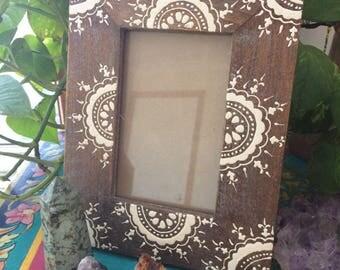 Wooden boho frame