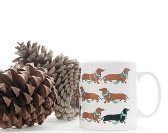 Dachshund Mug, Doxie coffee cup, Weiner cup, Sausage dog Mug, Dachshund Coffee Mug,  mom mug,  Funny Dachshund Mug  Dog mug gift for her