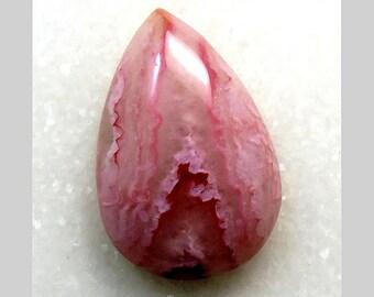 40Cts Rhodochrosite Quartz Loose Gemstone Pear Cabochon 32X22X8mm Rhodochrosite Quartz For Jewelry Making Gemstone B-3418