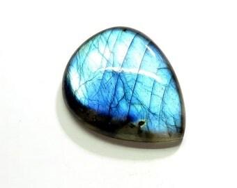 39Cts Natural Labradorite Cabochon Loose Gemstones Pear Top AAA Blue Fire Labradorite Gemstones Labradorite Jewelry Making 31X25X6mm