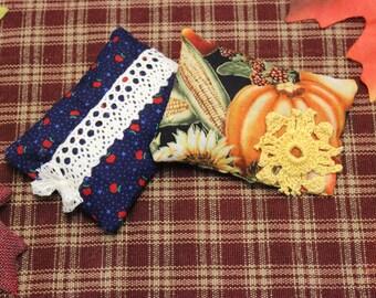 Pumpkin & Apple Sachet Set, Pumpkin Sachet, Apple Sachet, Autumn Sachet, Fall Sachet, Sachet Set, Fall Scents, Herbal Sachet, Autumn Decor