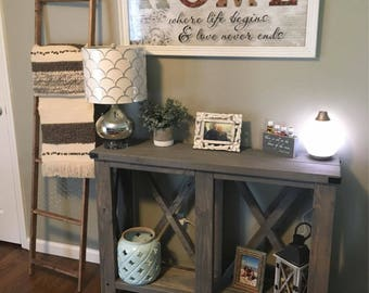 Farmhouse X-Console/ Entry/Sofa Table