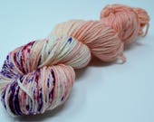 Aubs Worsted, hand dyed yarn, handdyed yarn, hand dyed worsted yarn, hand painted yarn, worsted yarn, worsted weight, Kiss