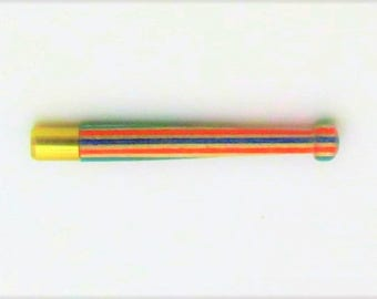 Brass and Rainbow Wood Single Hitter 0019RB