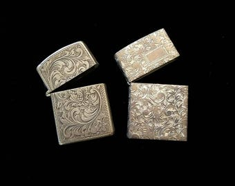 2 Sterling Silver Match Safes as found