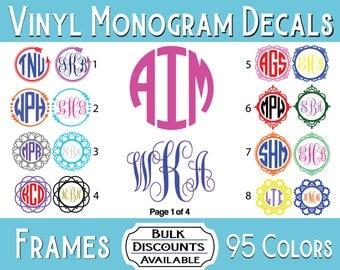 Monogram Decal / Monogram Sticker / Yeti Monogram / Tumbler Monogram / Cursive Monogram / Vinyl Monogram Decal / Vinyl Monogram / Yeti Decal