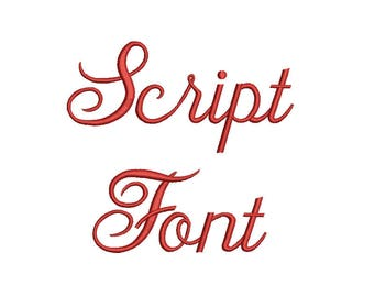 Script Embroidery Fonts 3 Sizes  Embroidery Designs Alphabets Embroidery PES Fonts BX Font - Instant Download