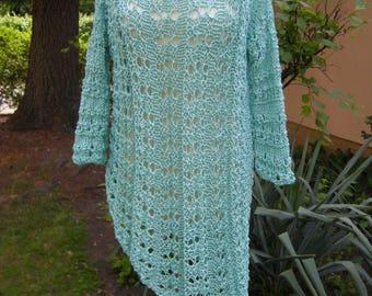 """Knitted shirt tunic """"Marita"""", shirt, sweater, sweater. Sweater, knit, black size 38-44"""