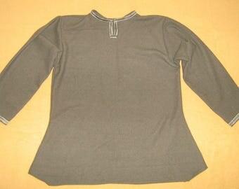 Viking  Tunic / Olive Green Wool  / XL