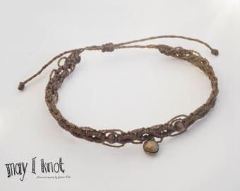 Macrame anklets with bell
