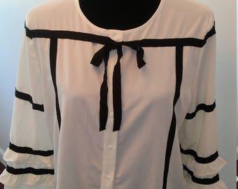 On Sale Black tie blouse